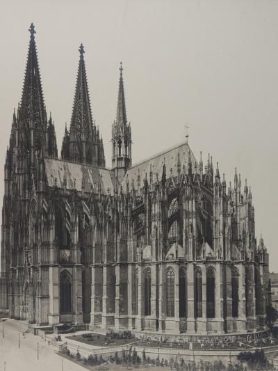 Cologne: Cathedral, 1889- Königlich Preubische Messbildanstalt-Photographic Print