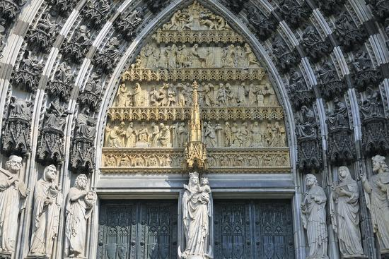 Cologne Cathedral, Main Portal of the West Facade, Cologne, Germany--Photographic Print