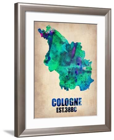 Cologne Watercolor Poster-NaxArt-Framed Art Print