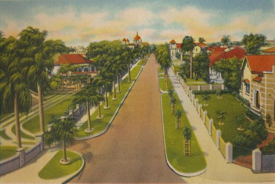 'Colombia Avenue, Barranquilla', c1940s-Unknown-Giclee Print