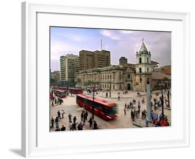 Colombia, Bogota, 16th Century Iglesia De San Francisco, Avendia Jimenez and Carrera Septima-John Coletti-Framed Photographic Print