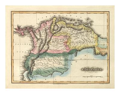 Colombia, c.1823-Fielding Lucas-Art Print