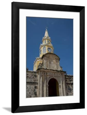 Colombia, Cartagena. 'Old City' the historic walled city center, UNESCO. Clock Tower Gate, aka Torr-Cindy Miller Hopkins-Framed Photographic Print