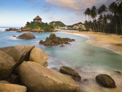Colombia, Magdalena, Park Nacional Natural Tayrona, El Cabo, Beach-Jane Sweeney-Photographic Print