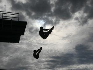 Colombia's Juan Guillermo Uran and Victor Ortega Dive to Win Gold in Men's Springboard Diving Event