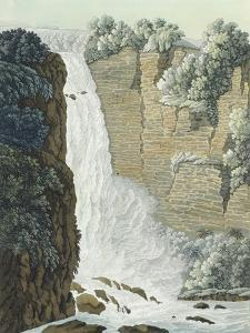 Colombia, View of Taquendama Waterfall on Bogota Plateau