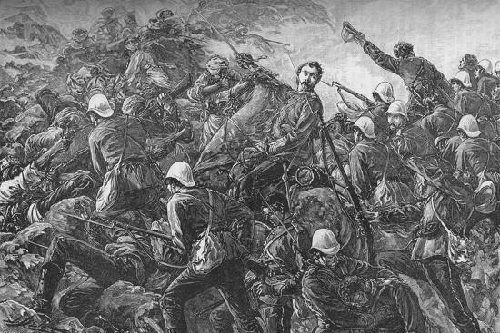 'Colonel Galbraith at the Battle of Maiwand', c1880-Unknown-Giclee Print