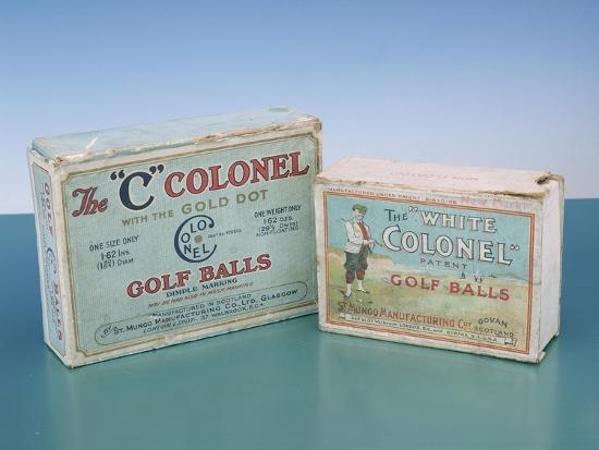 Colonel golf ball boxes, c1910-Unknown-Giclee Print
