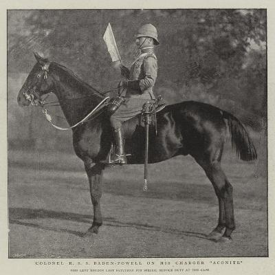 Colonel R S S Baden-Powell on His Charger Aconite--Giclee Print
