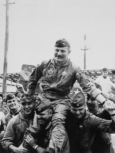 Colonel Robin Olds Celebrates His 100th Combat Mission, Vietnam, 1967