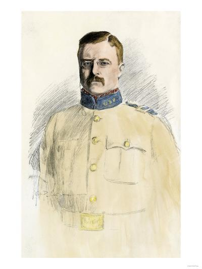 Colonel Theodore Roosevelt When a Rough Rider, 1890s--Giclee Print