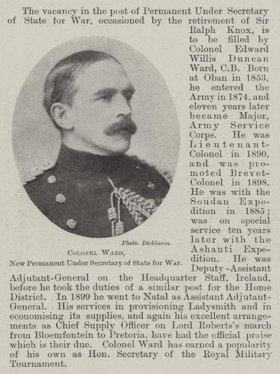 Colonel Ward, New Permanent under Secretary of State for War--Giclee Print