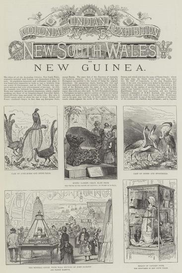 Colonial and Indian Exhibition, New South Wales and New Guinea--Giclee Print