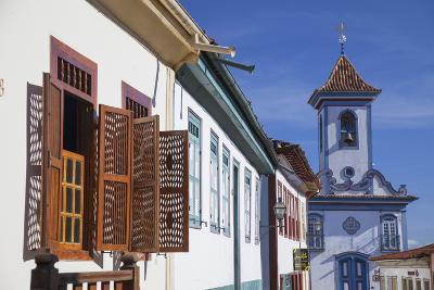 Colonial Architecture and Church of Amparo, Diamantina (Unesco World Heritage Site), Minas Gerais-Ian Trower-Photographic Print