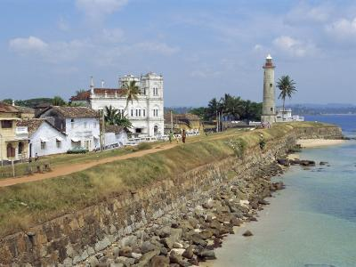 Colonial Buildings and Lighthouse, Galle, Sri Lanka-Robert Harding-Photographic Print