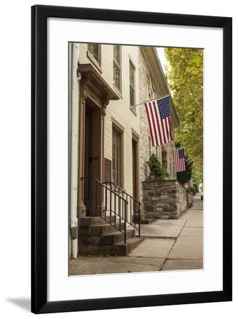 Colonial Era Townhouses in the Old Town of Bethlehem, Pennsylvania-Richard Nowitz-Framed Photographic Print