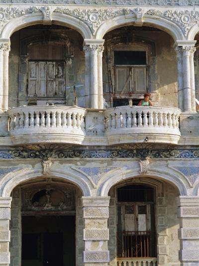 Colonial Facade, El Malecon, Havana, Cuba-J P De Manne-Photographic Print
