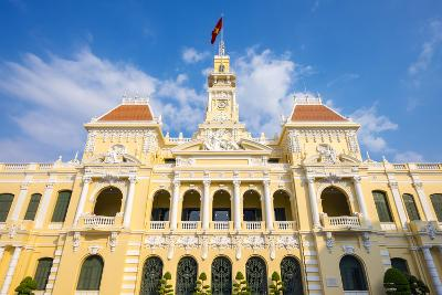 Colonial Facade of Ho Chi Minh City Hall (Ho Chi Minh City People's Committee), Vietnam-Jason Langley-Photographic Print