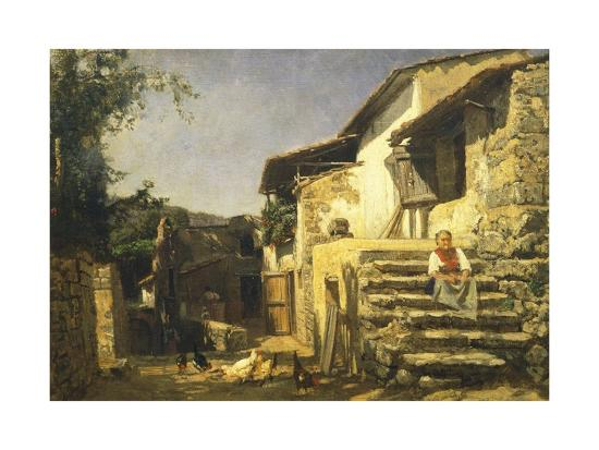 Colonial House in Sorrento, 1859-Filippo Palizzi-Giclee Print