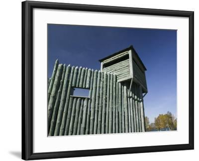 Colonial Michili Mackinac, Mackinaw City, Michigan, USA-Walter Bibikow-Framed Photographic Print