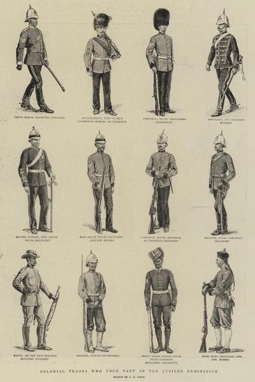 Colonial Troops Who Took Part in the Jubilee Procession-S^t^ Dadd-Giclee Print