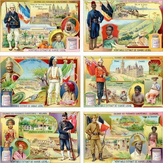Colonies of the European Powers - France, Belgium, Italy, England, Holland and Germany, 1910--Giclee Print
