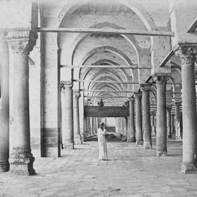 Colonnade, Cairo, Egypt, Late 19th or Early 20th Century-G Lekegian-Giclee Print