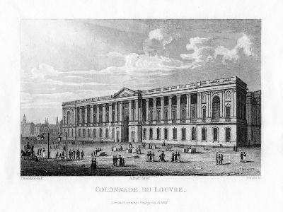 Colonnade Du Louvre, Paris, 1828-H Wallis-Giclee Print