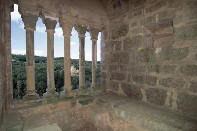 Colonnade from Commarque Castle--Giclee Print