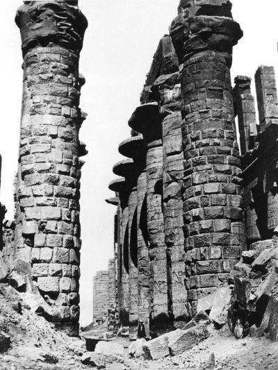 Colonnade, Hypostyle Hall, Egypt, 1878-Felix Bonfils-Giclee Print