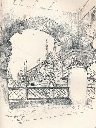 Colonnade Near the Pont Des Invalides, C1900-Tony Grubhofer-Giclee Print