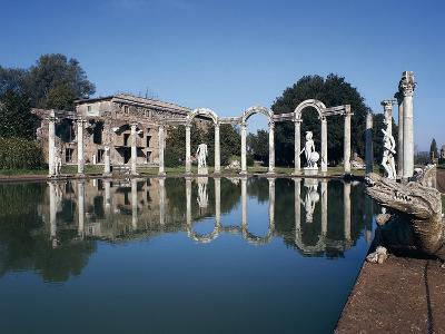Colonnade of Canopus, Hadrian's Villa--Photographic Print