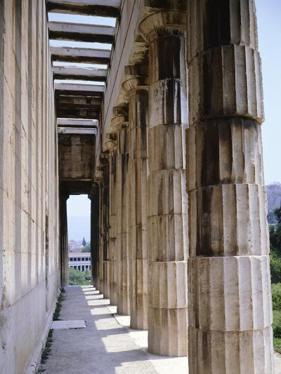 Colonnade of Hephaisteion Temple in Agora in Athens, Greece, 5th Century BC--Giclee Print