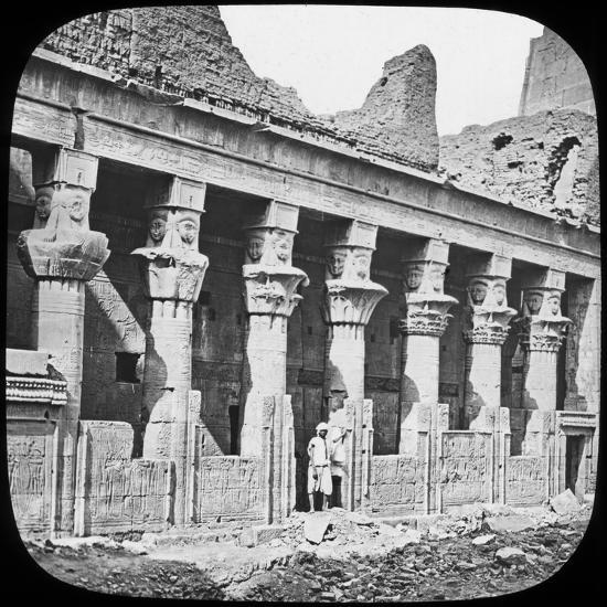 Colonnade of the Temple of Isis, Philae, Egypt, C1890--Photographic Print