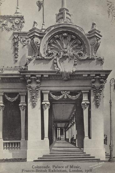 Colonnade, Palace of Music, Franco-British Exhibition, White City, London, 1908--Photographic Print