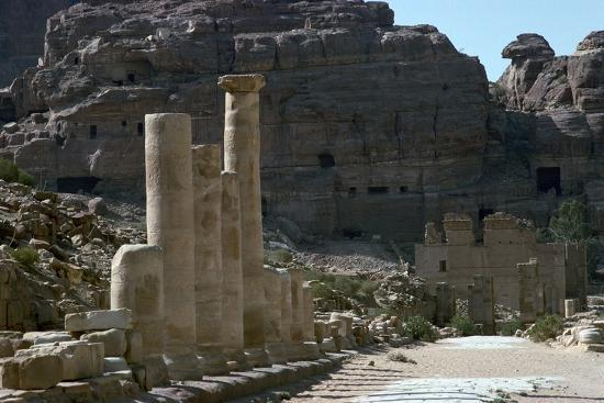 Colonnaded street in the centre of Petra-Unknown-Photographic Print