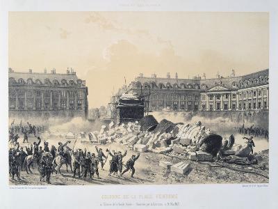 Colonne De La Place Vendome, Paris Commune, May 1871--Giclee Print
