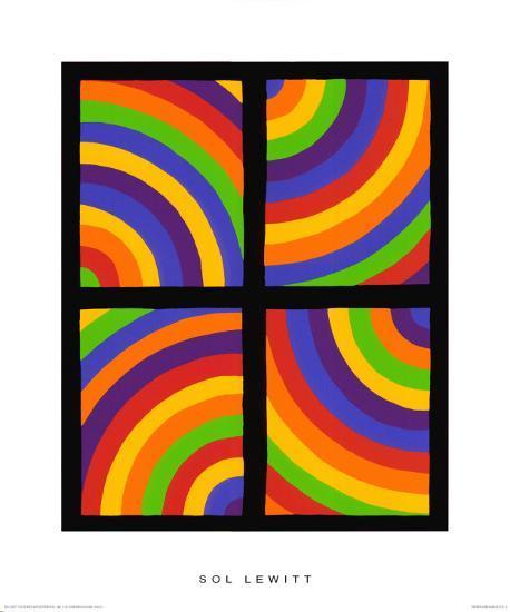 Color Arcs in Four Directions, c.1999-Sol Lewitt-Premium Giclee Print