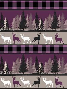 Burgundy Deer by Color Bakery