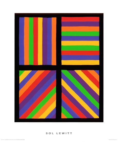 Color Bands in Four Directions, c.1999-Sol Lewitt-Premium Giclee Print