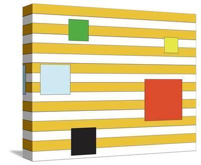 Color Block on Stripe-Dan Bleier-Stretched Canvas Print