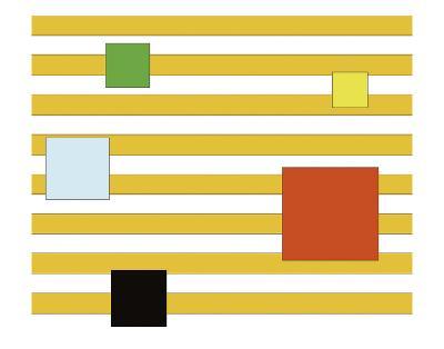 Color Block on Stripe-Dan Bleier-Art Print