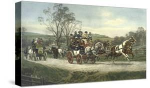"""Color Engraving from Painting Entitled """"Behind Time"""" by Gilbert S. Wright"""