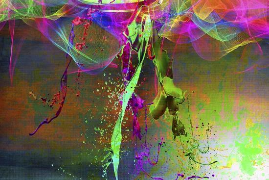 Color Explosion V7-Ata Alishahi-Giclee Print