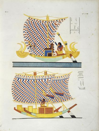 Color Illustration from Book 'Monuments of Egypt and Nubia'--Giclee Print