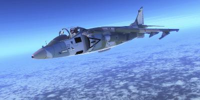 Color Illustration of an Av-8B Harrier Ii Fighter Jet-Stocktrek Images-Photographic Print