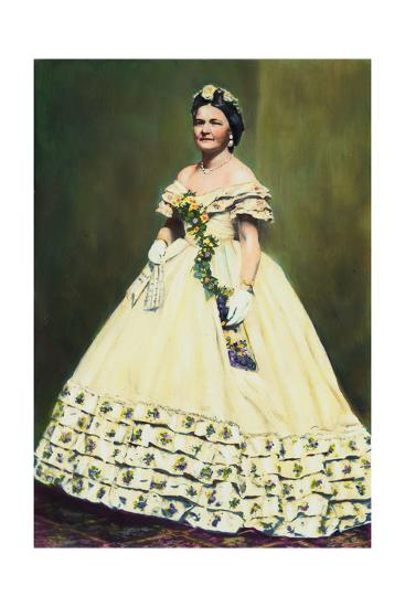 Color Illustration of Mary Todd Lincoln--Giclee Print