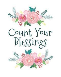 Count Your Blessing-Floral by Color Me Happy