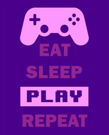 Eat Sleep Game Repeat - Purple