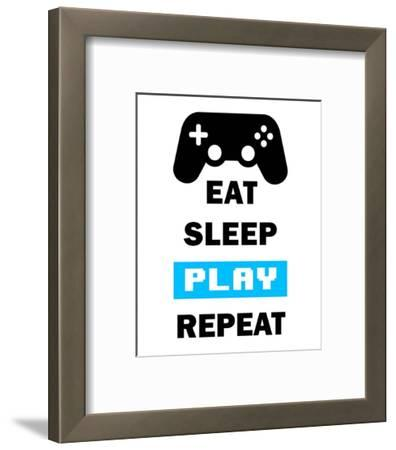 Eat Sleep Game Repeat - White and Blue